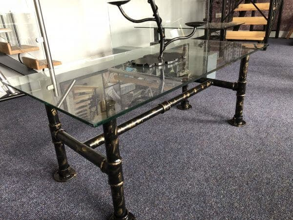 Industrial Pipe Coffee Table   PJ Design   Irelandu0027s Leading Manufacturers  Of Wrought Iron And Stainless Steel Furniture And Architectural Ironwork.