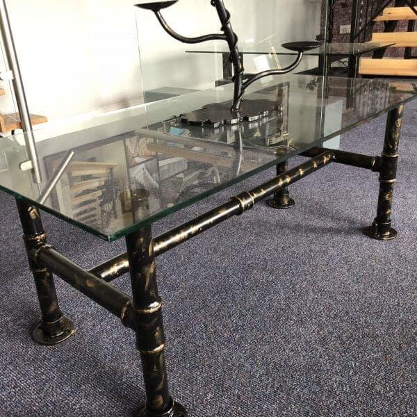 Industrial Coffee Table Ireland: Industrial Pipe Coffee Table - PJ Design