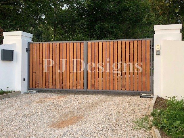 Gates With Timber Slats